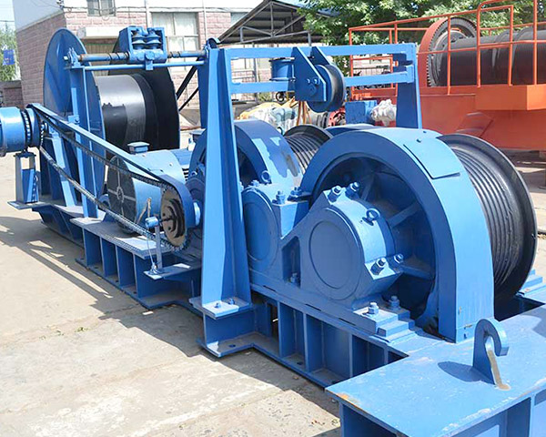 Friction electric winch